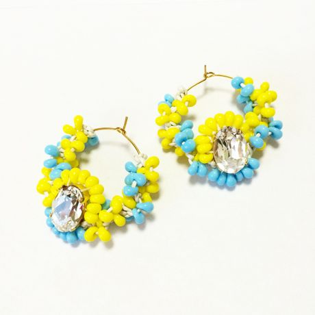 SWAROVSKI Mix color ピアス LP150103-Lemon