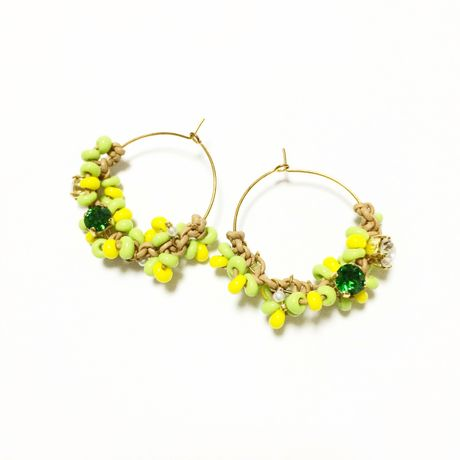 SWAROVSKI Mix color ピアス LP130303-Natural