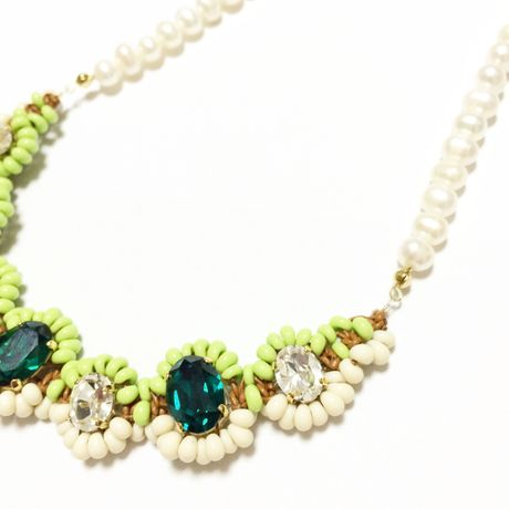 SWAROVSKI Mix color ネックレス  LN150102-Emerald