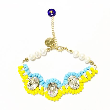 SWAROVSKI Mix color ブレスレット  LB150102-Lemon