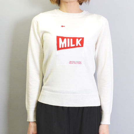 【MUVEIL WORK】 MILK KNIT