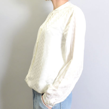 【EQUIPMENT】GEOMETRIC PATTERN HENRYNECK SHIRT