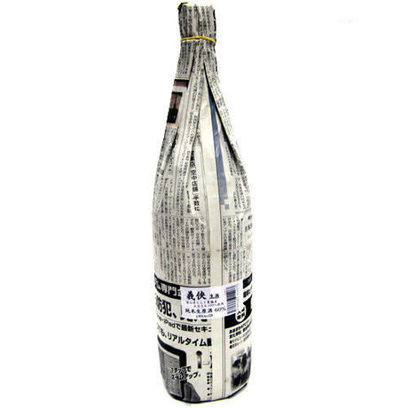 Gikyou brand, brewed by Yamachuuhonke from Aichi Japanese SAKE Junmai-namagenshu sweet type, 1800ml, 16% Alcohol.