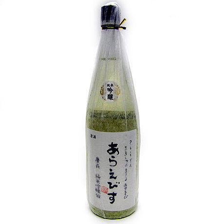 Araebisu brand, brewed by Hirota from Iwate Japanese SAKE, Junmai Ginjō-shu dry strong type, 1800ml, 16% Alcohol.