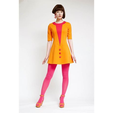 Witch Girl Dress-orange-