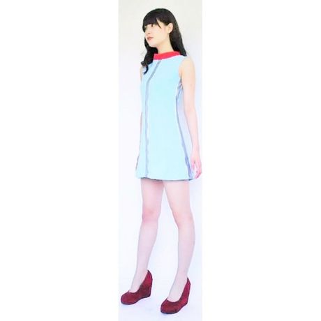 2C Silver Line Dress -lightblue-