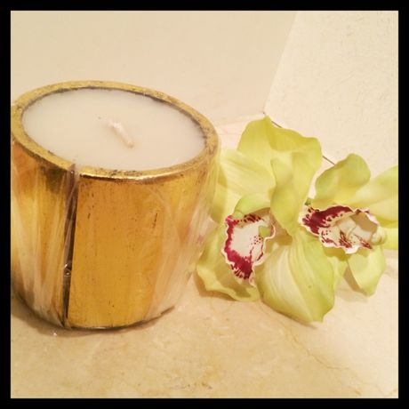 【SALE! 】bamboo candle(gold)