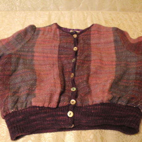 purple knit blouson