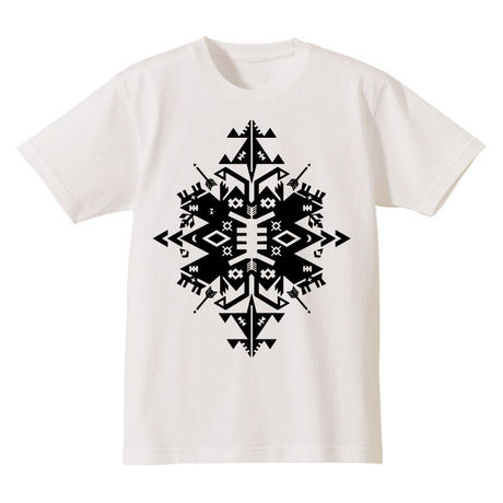 "SP-008 ""Native&Geometry""Tシャツ/WHT×BLK"
