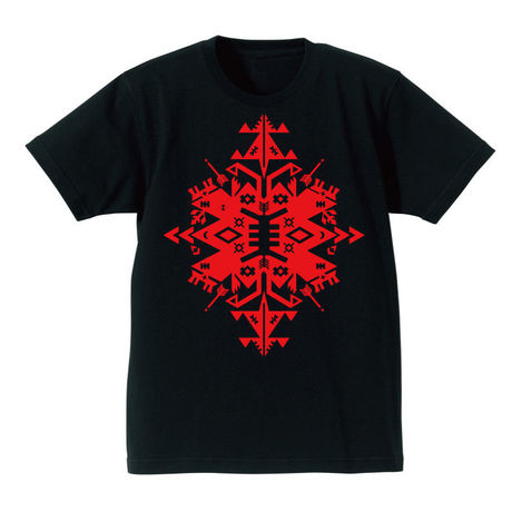 "SP-009 ""Native&Geometry""Tシャツ/BLK×RED"