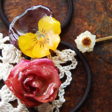 jewel flour hairAccessory
