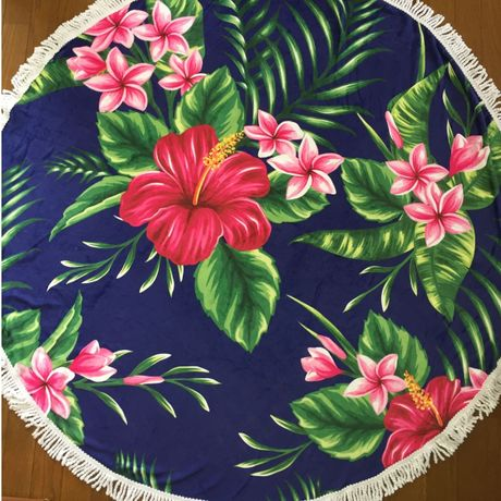 Round Beach Towel ・tropical