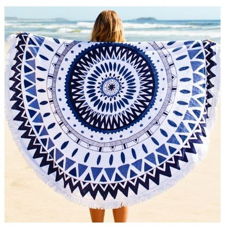 Round Beach Towel・blue