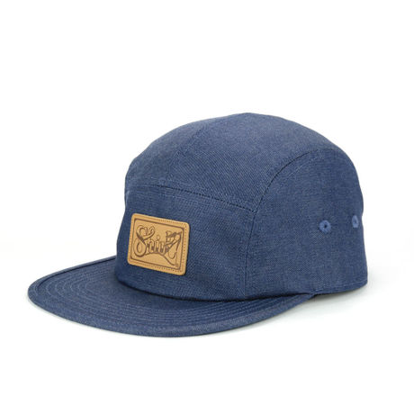 LEATHER PATCH COMFORT-5 CAP (DENIM) made in japan (SH150102DEM)