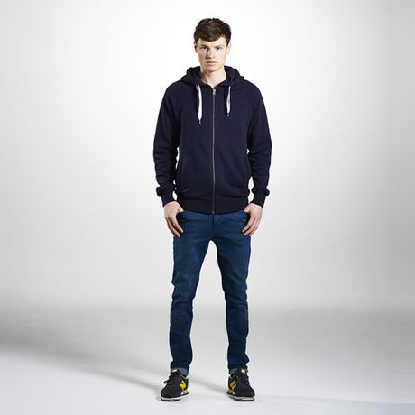 """Men's / Unisex Zip-up Hoody - Organic - Climate Neutral - """"EarthPositive®"""""""