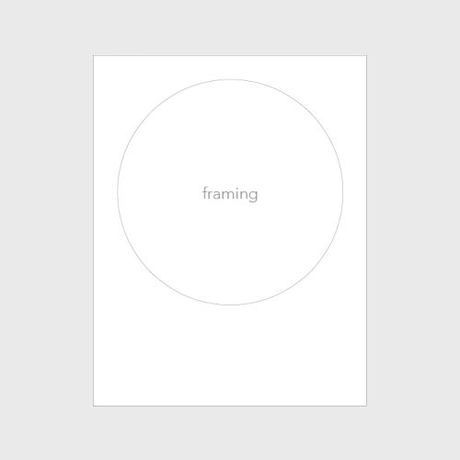 photo & phrase zine「framing」