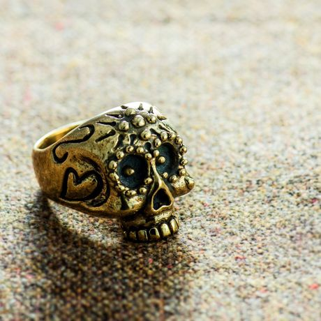 MEXICAN skull ring(brass)