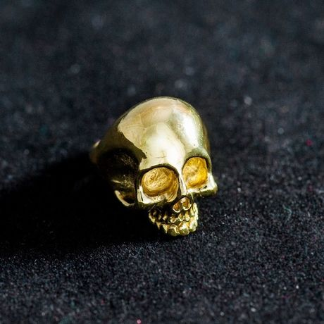 skull ring(brass)