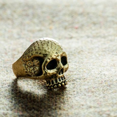 槌目skull ring(brass)