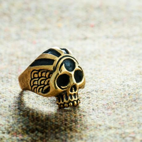 巴紋skull ring(brass)