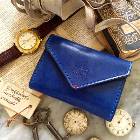 Letter - Leather Pass case / Ruri