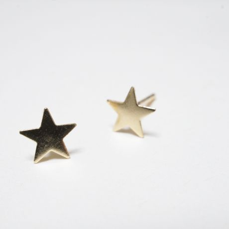 14K mini star pierce