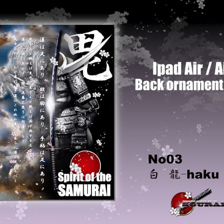 ipad Air/Air2 Back ornament sheet No3 白龍