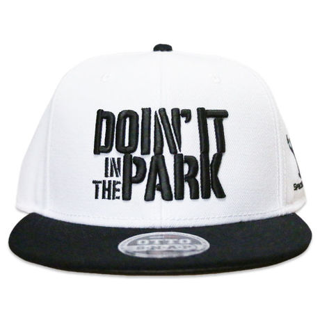 """DOIN' IT IN THE PARK x SpaceBall Mag """"Snap Back Cap"""" - White"""