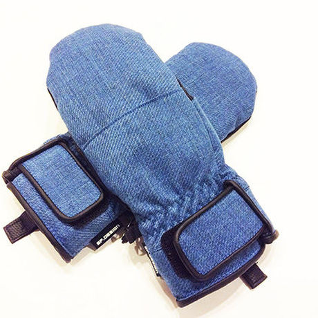 SP-design SHORT MITT GLOVE WOOL BLUE