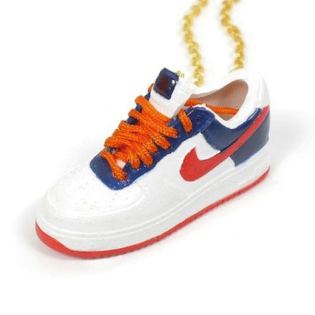 LULY/SNEAKER NECKLACE NIKE AIR FORCE1 スニーカーネックレス/Orange-Blue