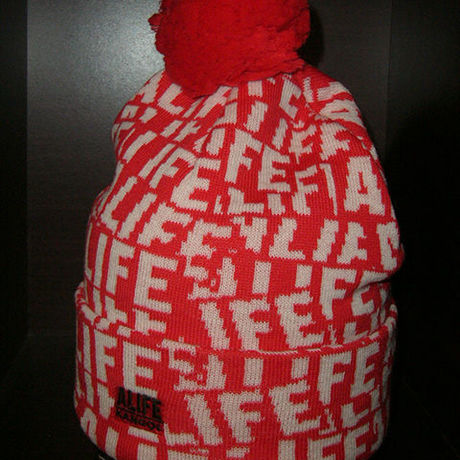 [30%OFF] ALIFE x KANGOL All Over Sticker Knit Beanie Cap