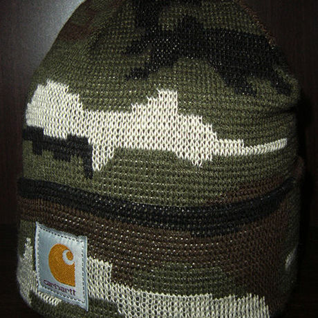 [20%OFF] Carhartt Camoflage All Over Knit Beanie Cap