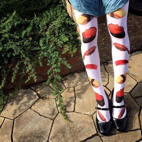 寿司 40 Denier print tights