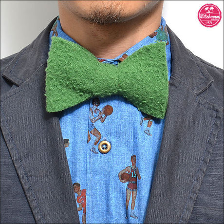 MITCHUMM(ミッチュム)FW'14   Acid Green Casentino Wool Bow Tie【FW14-064】