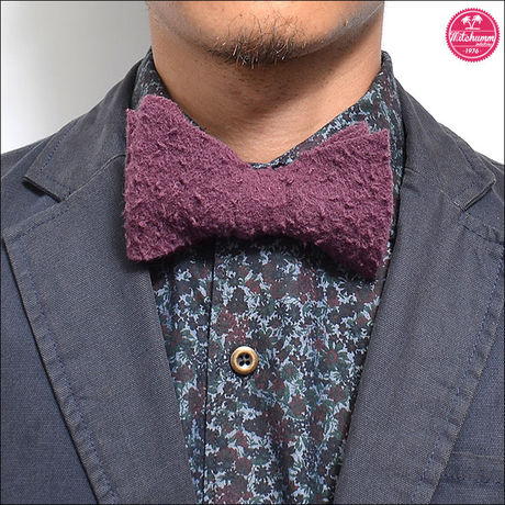 MITCHUMM(ミッチュム)FW'14  Wine Casentino Wool Bow Tie【FW14-061】