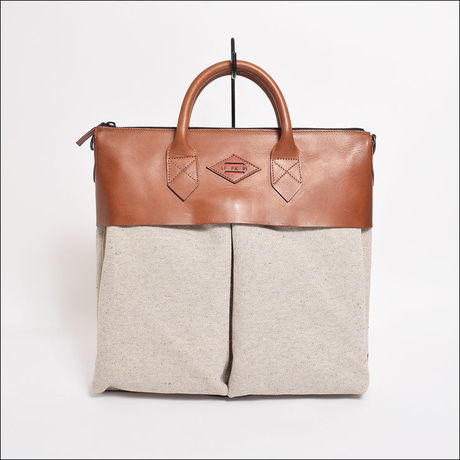 LEON FLAM(レオンフラム)SAC 21H  Toile Chinee Beige Heather Beige