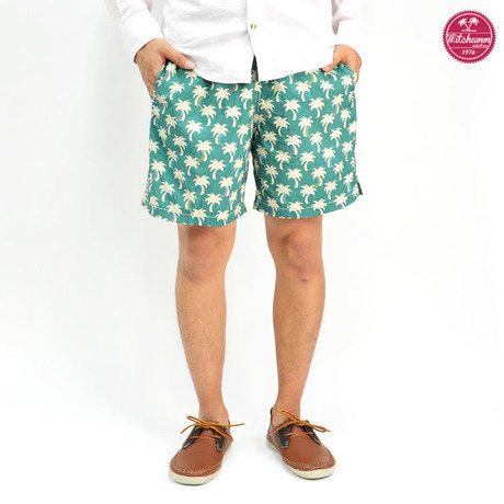 MITCHUMM(ミッチュム) SS'13 Green/palm swim shorts
