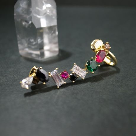 Ear Cuff (colorful stone)