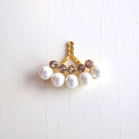 Swarovski + Pearl Catch Accessory (Two Lines)