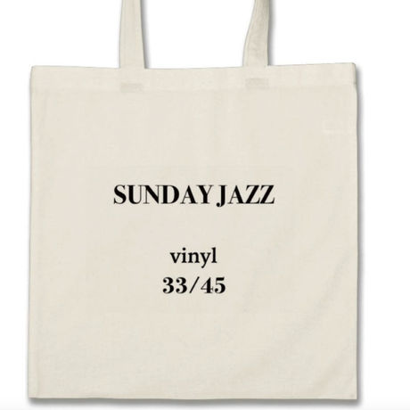 【SUNDAY JAZZ】vinyl 33/45 Tote Bag