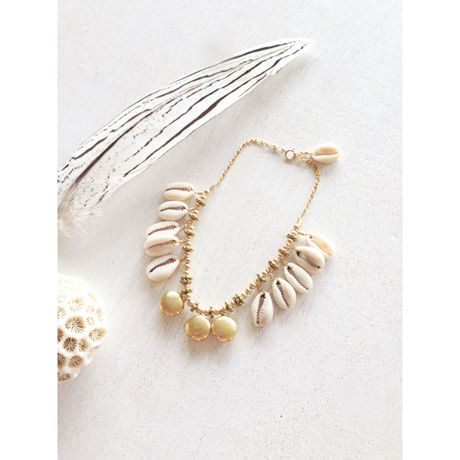 Shell,Gold/Anklet