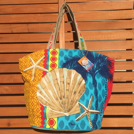 Pacific Shell Shoulder Tote