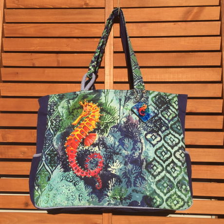 Seahorse Garden Over Sized Tote
