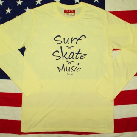 S・S・M long t shirts (Light・yellow)
