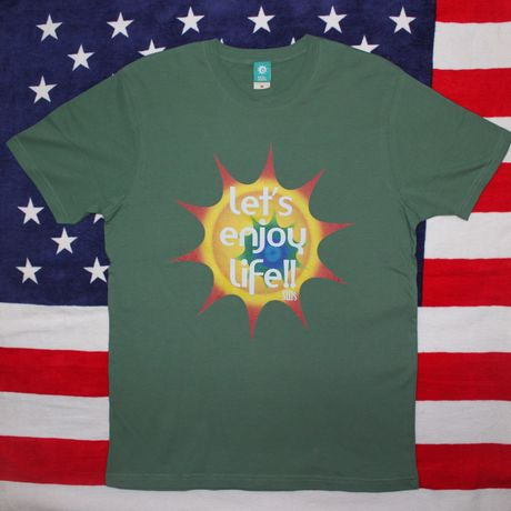 ENJOY LIFE Tshirts green