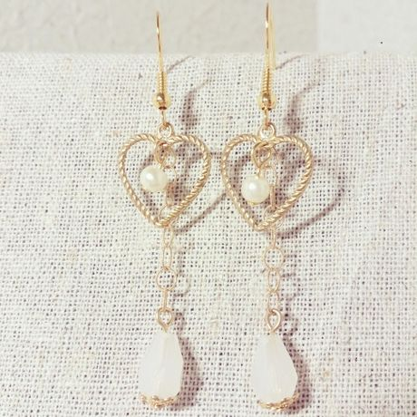 Romantic White Earrings