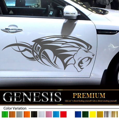 Lion car Sticker 23/car vinylgraphic/Custom Stickers/decals/genesis/fast and furious