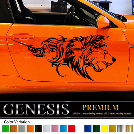 Lion car Sticker 19/car vinylgraphic/Custom Stickers/decals/genesis/fast and furious