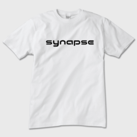 synapse ロゴ 白 Tシャツ