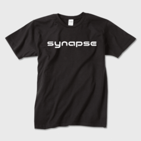 synapse ロゴ  黒 Tシャツ